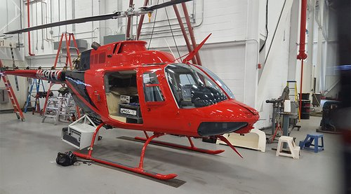 Red Survey Helicopter 2