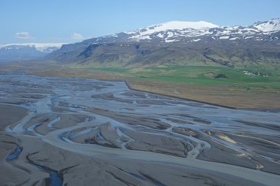 Braided river systems in Iceland
