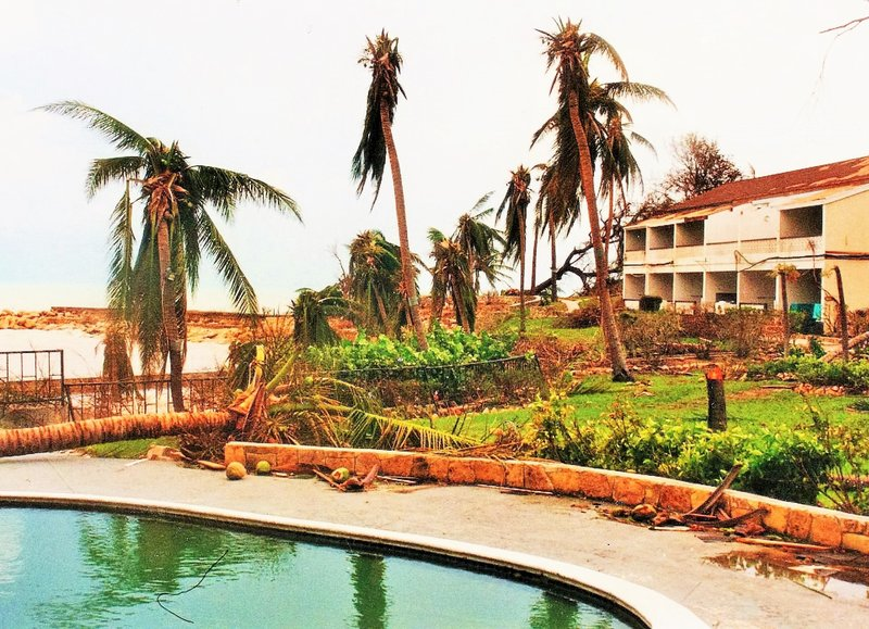 Blue Waters Hotel Antigua after Hurricane Luis Sept 1995