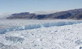 Large Calving Event at Helheim Glacier, Greenland