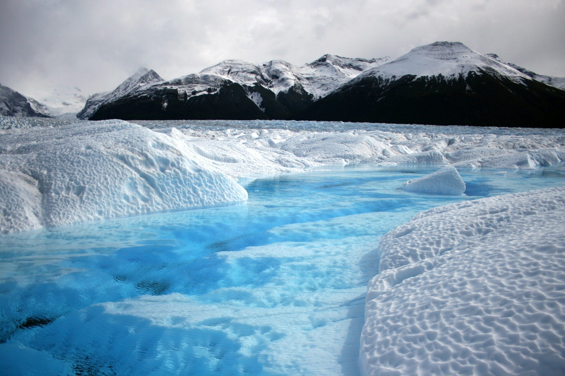 Glacier water on surface