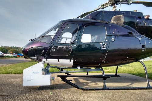 Black survey helicopter